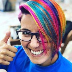 Hair tattoo + color fantasía