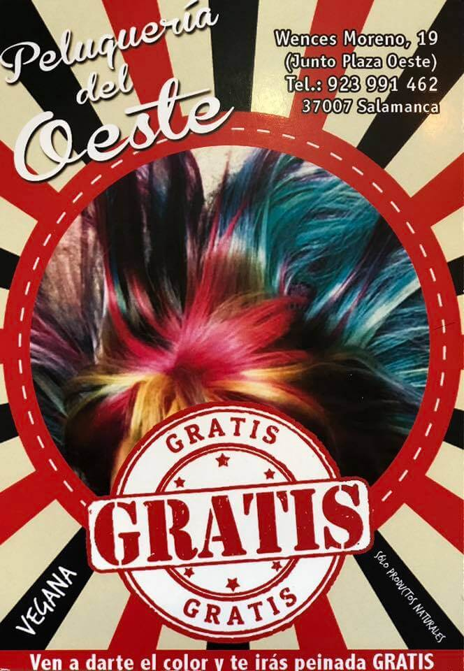 Oferta peinado gratis Salamanca